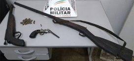 Pará de Minas: indivíduo é flagrado com armas e munição dentro de casa
