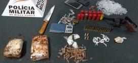 Papagaios: suspeito de tráfico foge, mas adolescente é apreendido com drogas, arma e munições
