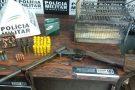Divinópolis: homem é preso com arma, munições pássaros e anilhas irregulares