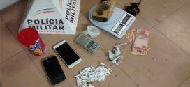 Itaúna: dupla suspeita de tráfico de drogas é presa com cocaína, maconha e balanças de precisão