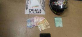 Itaúna: dinheiro recuperado e menor apreendido após roubo em posto de combustíveis