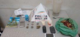 Pará de Minas: suspeito e tráfico é preso com quase 100 pedras de crack, maconha e cocaína
