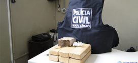 Pará de Minas: Polícia Civil apreende seis tabletes e meio de maconha durante operação