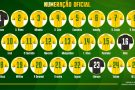 CBF divulga numeração oficial para amistosos da seleção