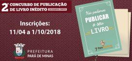 Lançado edital para concurso que escolherá livro de contos a ser publicado na Paraliteratura 2019