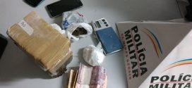 Suspeito de tráfico é preso com mais de 2 Kg de maconha e cocaína no Recanto da Lagoa em Pará de Minas