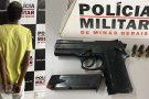 Nova Serrana: indivíduo é preso com pistola pertencente a Polícia Civil de São Paulo