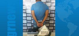 Preso com arma e munições o suspeito de roubar agência dos Correios em Quartel Geral