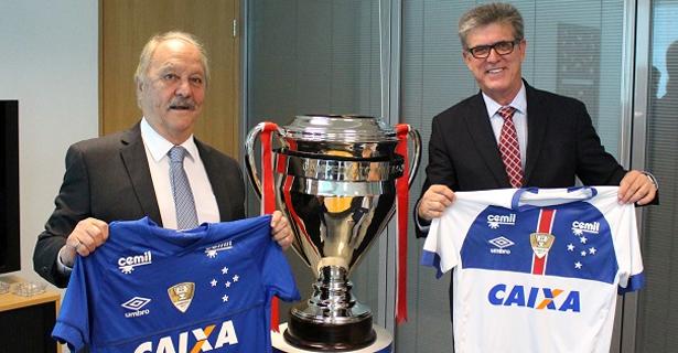 Cruzeiro formaliza renovação de contrato com a Caixa Econômica Federal