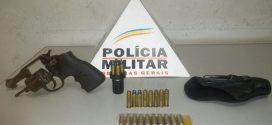 Jovem é preso com revólver e munições no parque de exposições em Pará de Minas