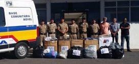 Campanha do agasalho entrega doações para entidades na região do 63º BPM