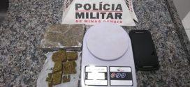 Pará de Minas: adolescente é apreendido com barra e tabletes de maconha