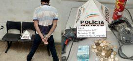 Homem é preso após furtar em duas residências em Pará de Minas e materiais foram recuperados