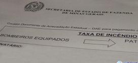 Taxa de incêndio vence dia 30 e Governo de MG deve arrecadar mais de R$ 850 mil em Pará de Minas
