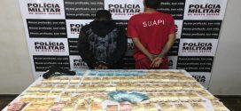 Dupla é presa em flagrante após assaltar agência dos Correios em Luz; dinheiro e moto roubados foram recuperados