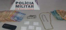 Nova Serrana: preso com grande quantidade de dinheiro e droga