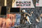 Polícia Militar flagra dupla com maconha e veículo usado no tráfico da droga