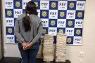 Mulher é presa e PRF apreende 31 Kg de pasta base de cocaína na BR-040