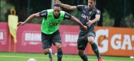 Atlético treina para enfrentar o Flamengo no Maracanã
