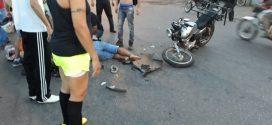 Acidente fere motociclista no bairro Nossa Senhora de Lourdes