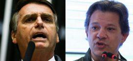 Ibope: Bolsonaro tem 59% e Haddad tem 41% dos votos válidos