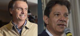 Jair Bolsonaro e Fernando Haddad adotam distintas formas para falar com o eleitorado