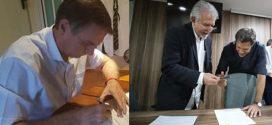 Jair Bolsonaro e Fernando Haddad assinam termo de compromisso à Constituição