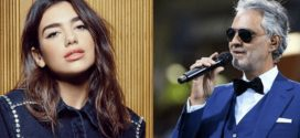 Andrea Bocelli e Dua Lipa juntos em clipe. Assista